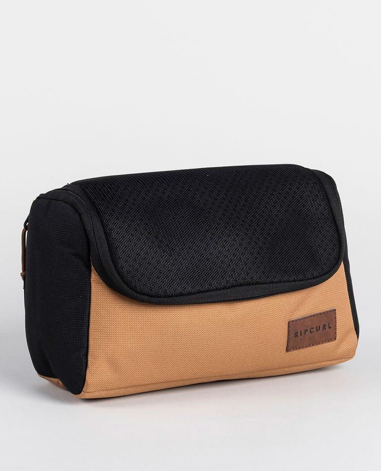 F-Light Combine Toiletry Bag in Black/Tan