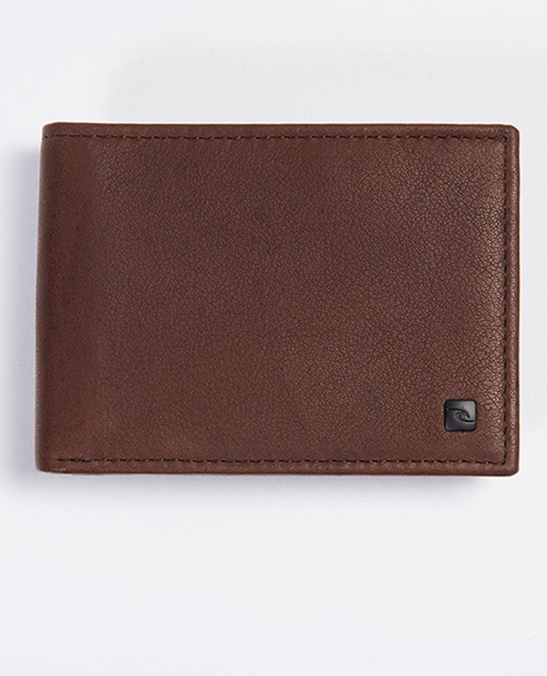 K-Roo RFID Slim ZF Leather Wallet in Brown