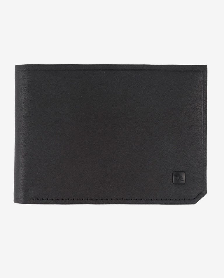 Hydro Leather RFID Slim Leather Wallet in Black