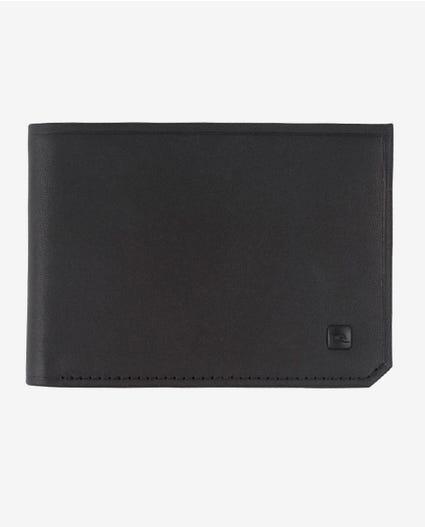 Hydro Leather RFID Slim Leather Wallet in Black
