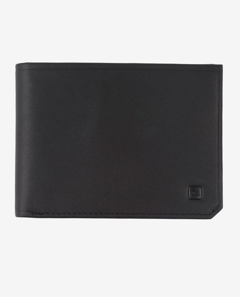 Hydro Leather RFID All Day Leather Wallet in Black