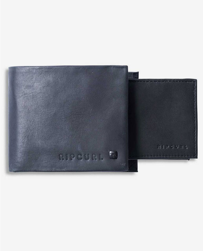 Edge RFID 2 In 1 Leather Wallet in Black