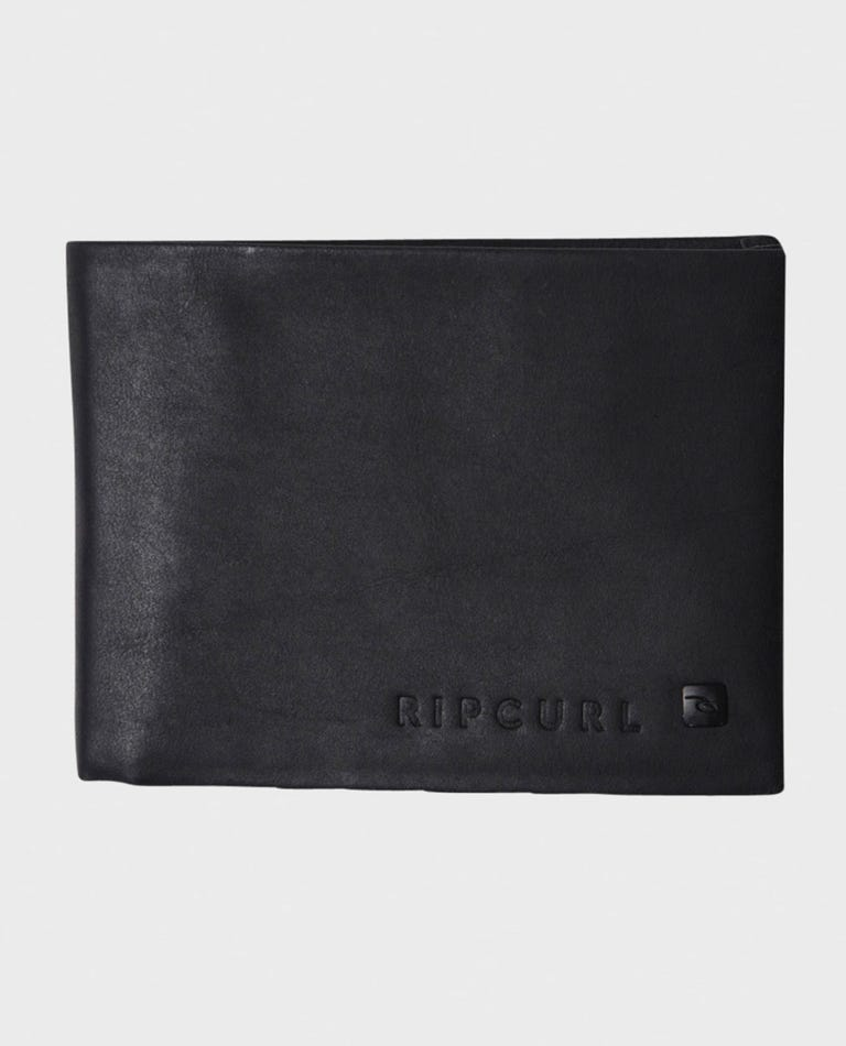 Seamless Rfid Leather Wallet in Black