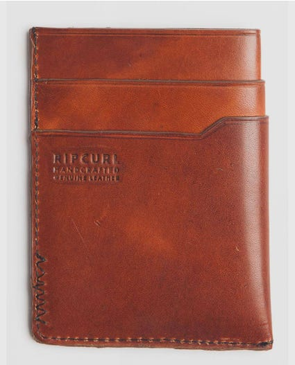 Handcrafted Slim Card in Brown