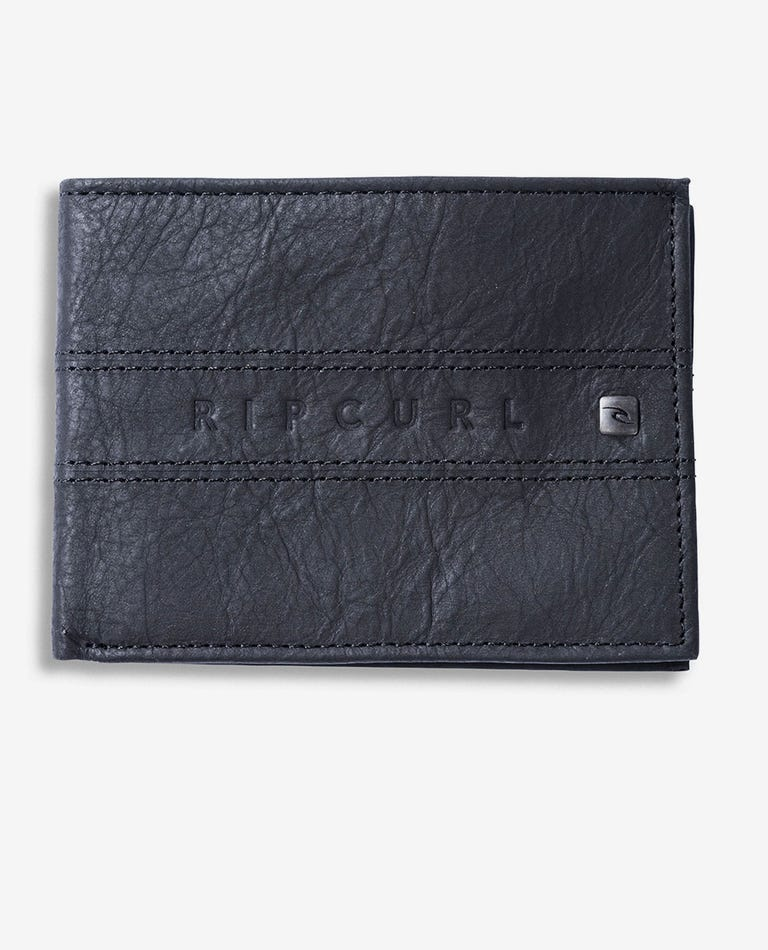 Word Boss RFID All Day Leather Wallet in Black