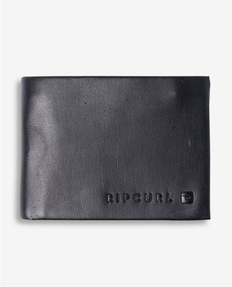 Leather ASX Combo Wallet in Black