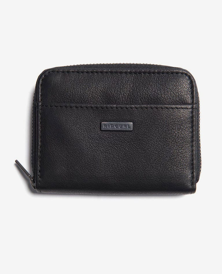 K-Roo RFID Zip Card Slim Wallet in Black