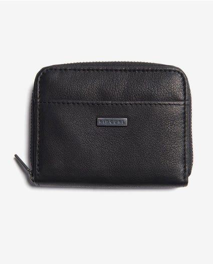 K-Roo RFID Zip Card Slim Wallet in Black