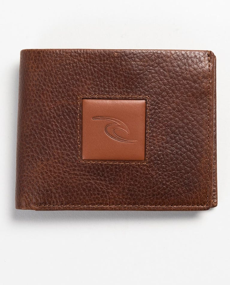 Centres RFID 2 In 1 Leather Wallet in Brown