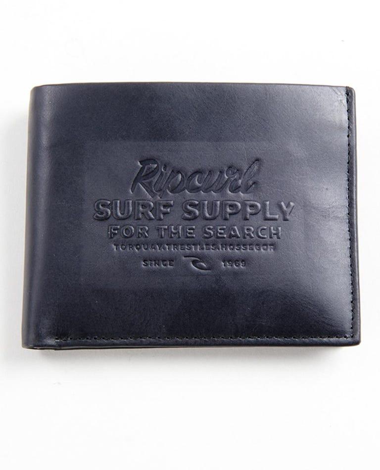 Surf Supply RFID 2 In 1 Wallet in Black