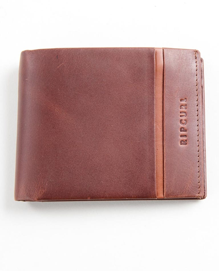 Channel RFID 2 In 1 Wallet in Brown