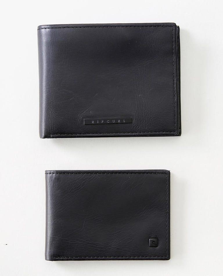 Vintage RFID 2 In 1 Wallet in Black