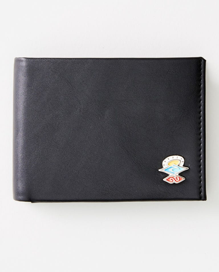 Search Logo RFID PU All Day Wallet in Black