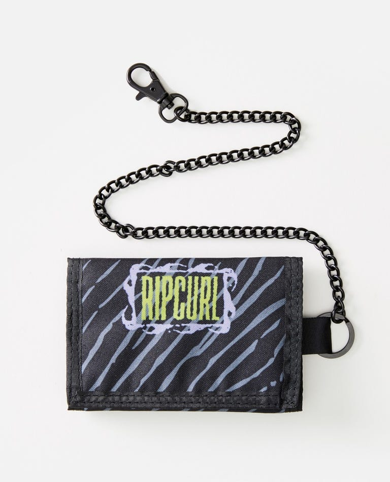 Mix Up Surf Chain Wallet in Black