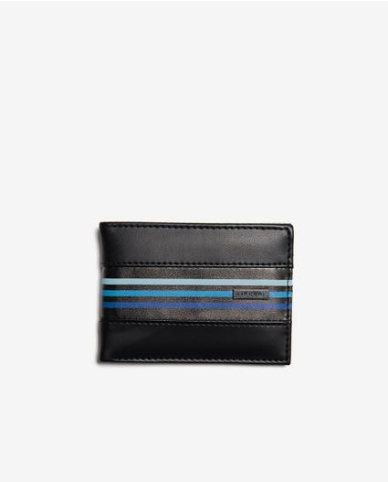 Flow PU Slim Wallet in Navy