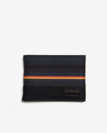 Raptured PU Slim Wallet in Black/Orange
