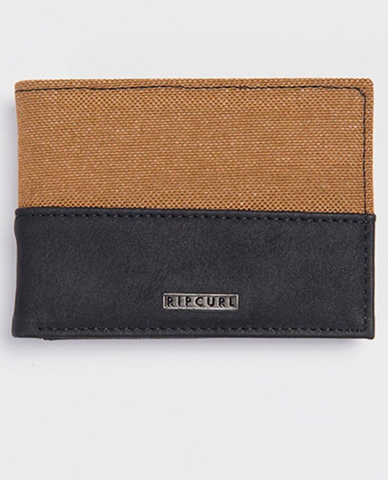 Split PU Slim Wallet in Tan