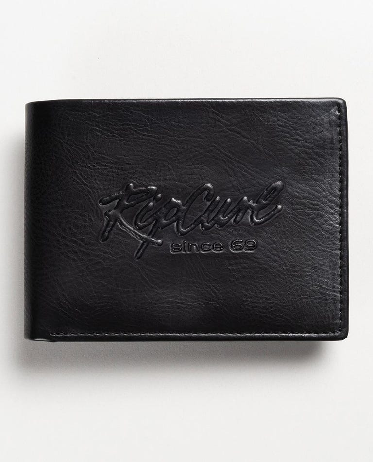 Beach Script All Day Wallet in Black