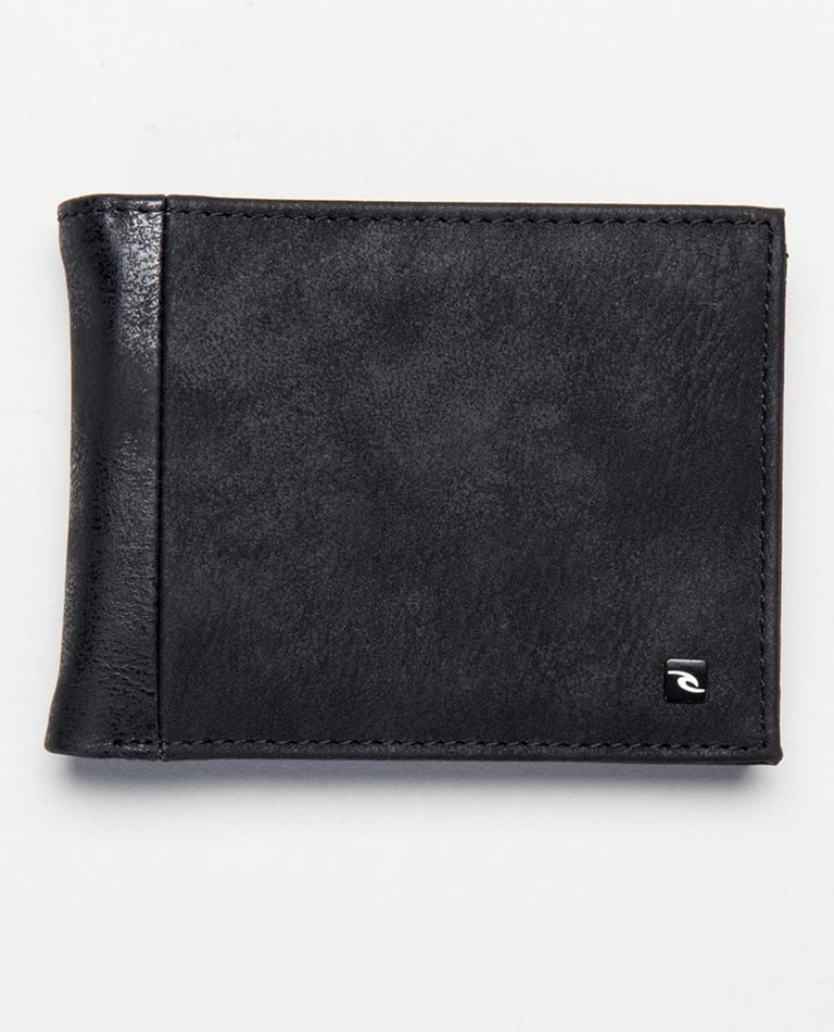 Contrast RFID PU All Day Wallet in Black