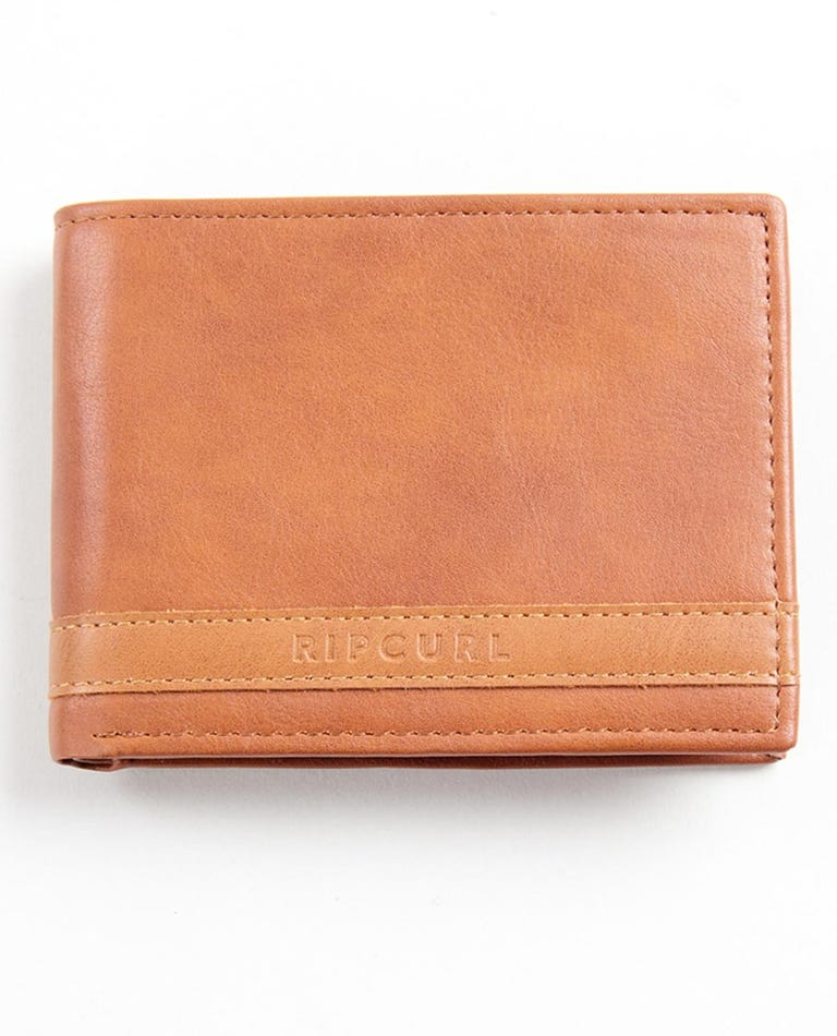 Emboss Panel PU All Day Wallet in Brown