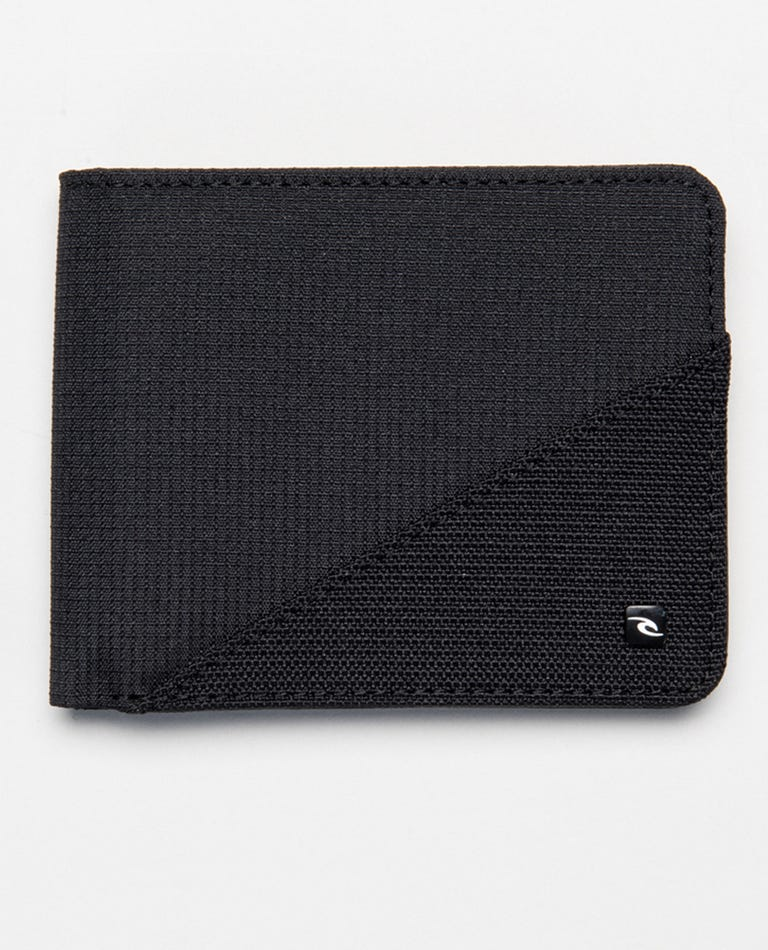 Ripstop PU All Day Wallet in Black