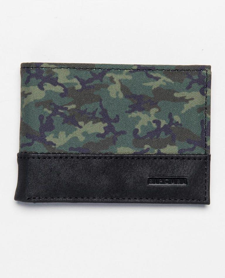 Combo PU Slim Wallet in Dark Olive