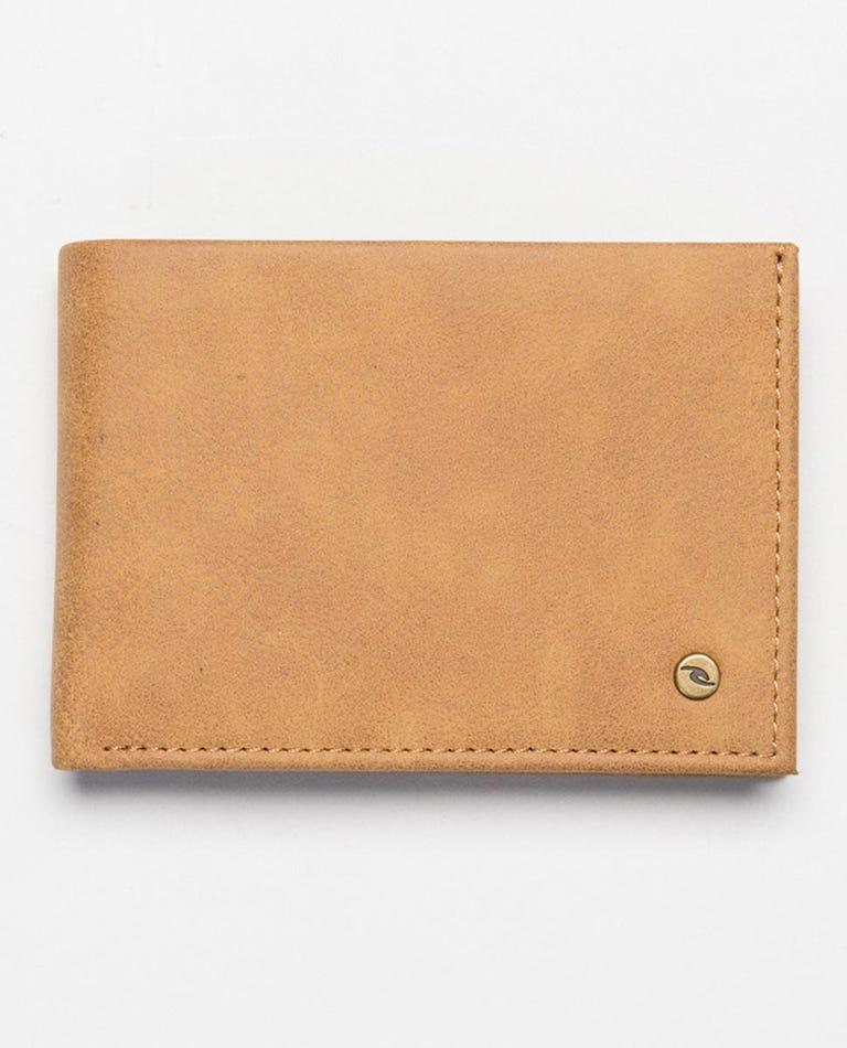 Roundhouse RFID PU Slim Wallet in Brown