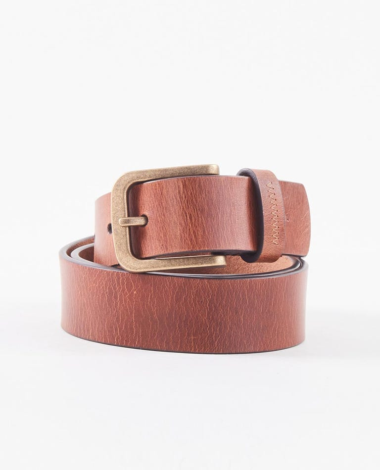 Handcrafted Leather Belt in Tan