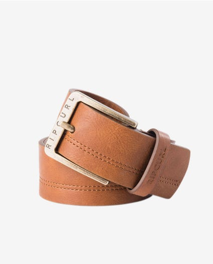 Double Stitch Belt in Brown