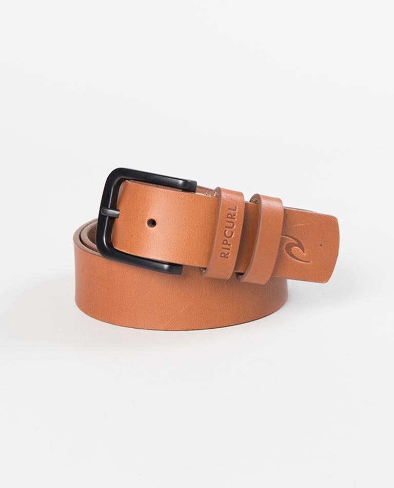 Cut Down Leather Belt in Tan