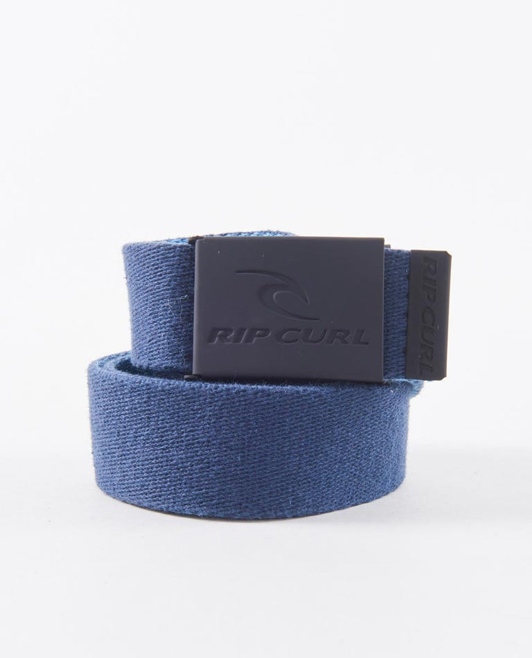 Snap Reversible Webbed Belt in Black/Blue