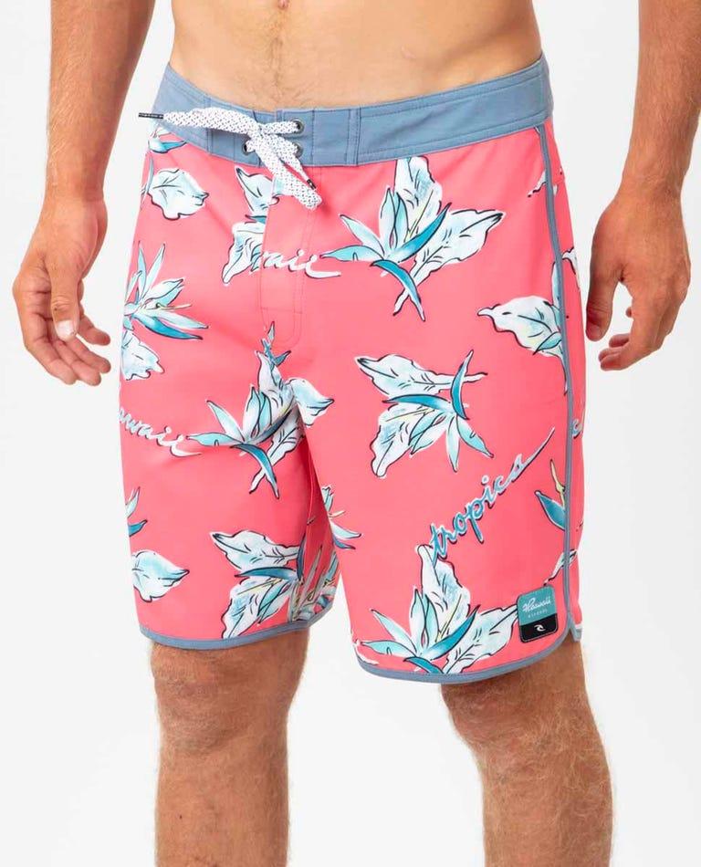 Mirage Hawaii Tropics 19 Boardshort in Peach