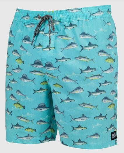 East Cape 18 Volley Boardshorts in Blue Grey
