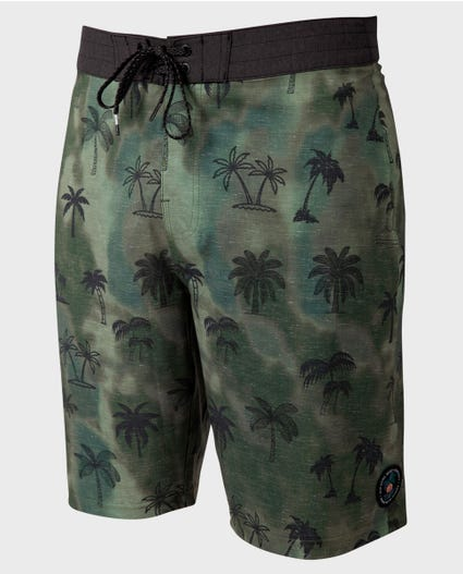 Mirage Island Routes 21 Boardshorts in Military Green