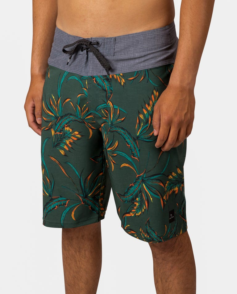 Mirage Spacey Boardshorts in Military Green