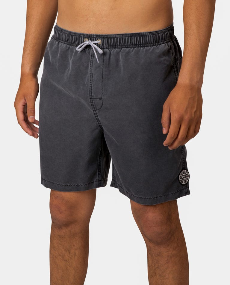 Bondi Pigment 17 Volley Boardshort in Black