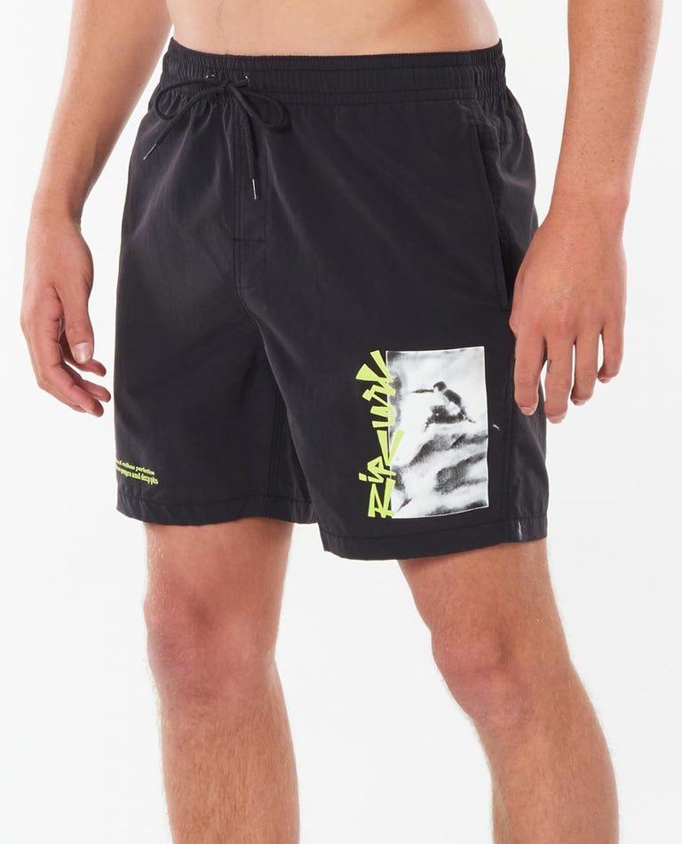 Lo-Fi 17 Volley Boardshort in Black