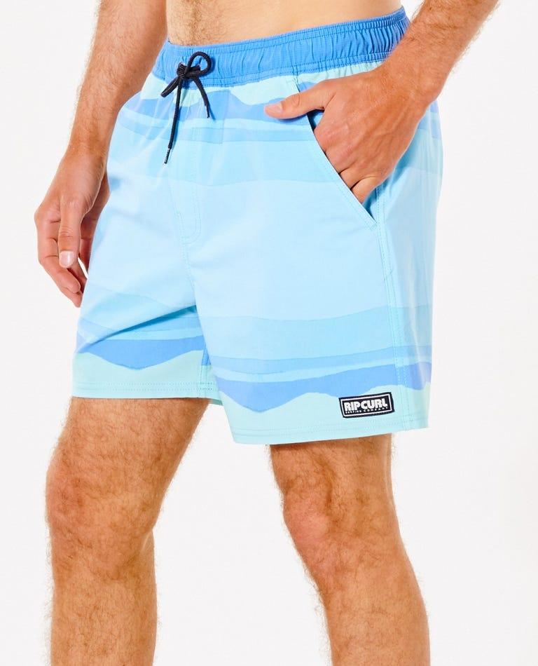 Surf Revival Volley Short in Blue Gum