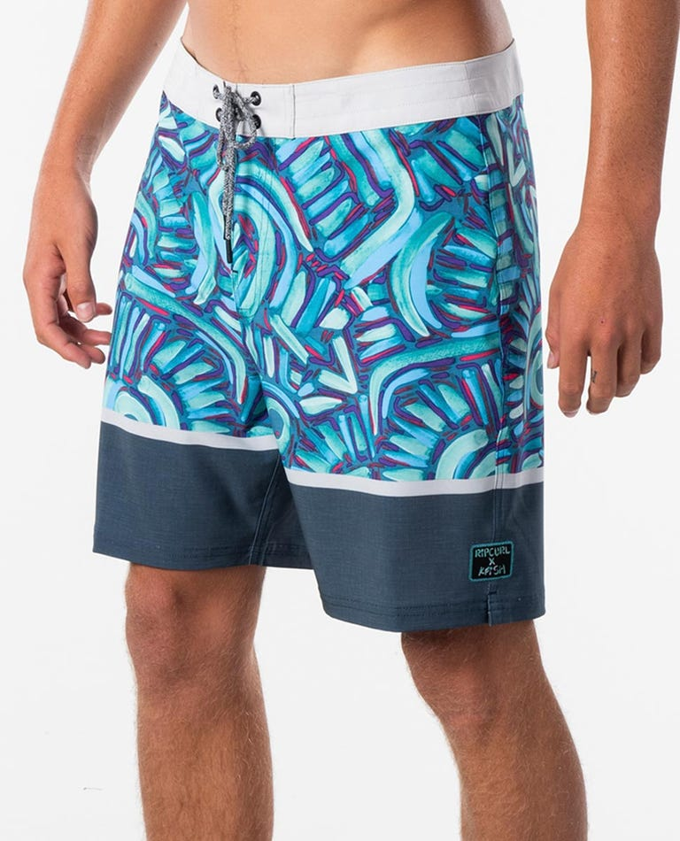 Mirage Wilko Kfish Boardshort in Blue