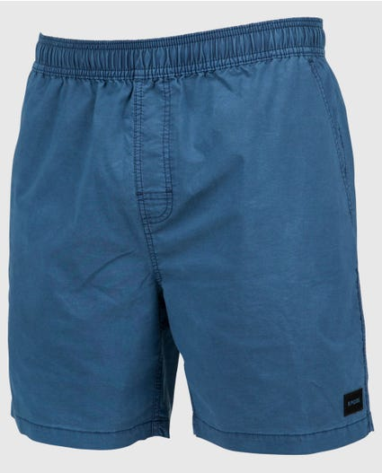 Washed Out 17  Volley Boardshorts in Dark Blue