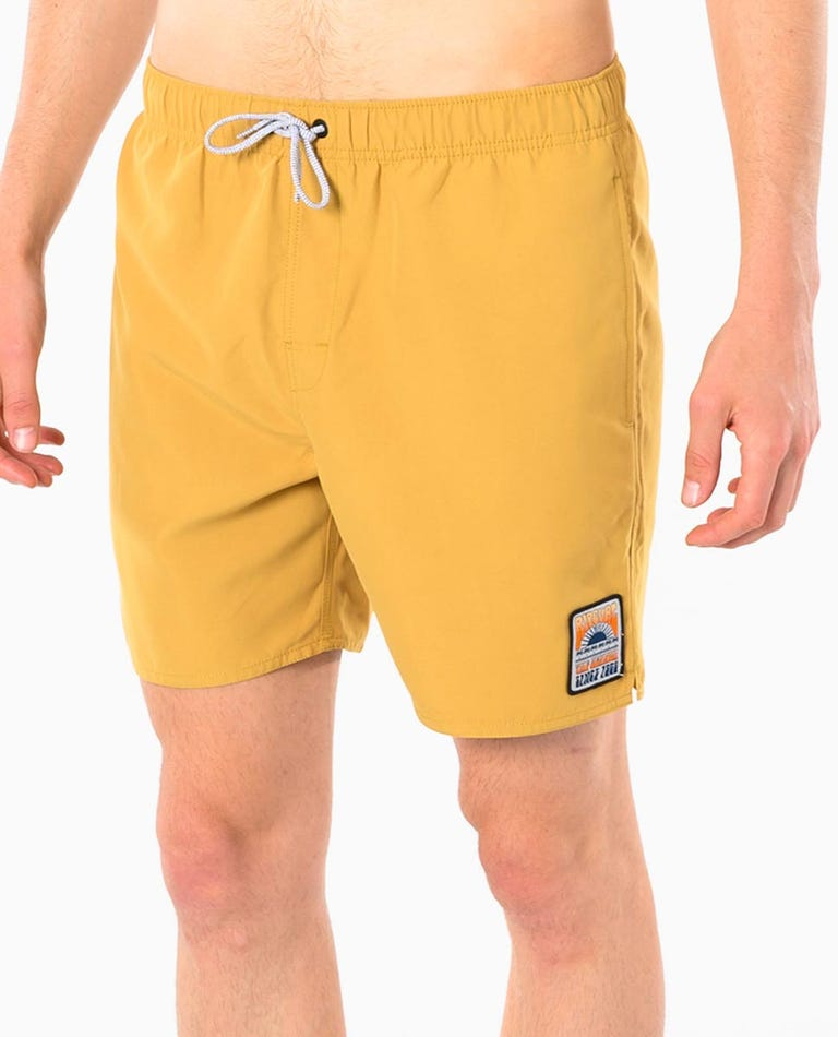 Kiss The Sky Volley Short in Mustard