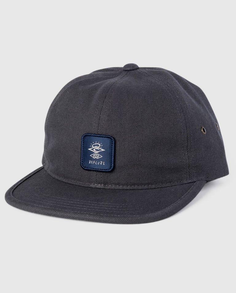 Strange Trails Snapback Cap in Black