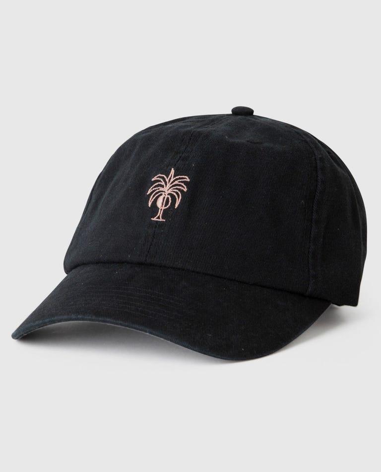 Dark Paradise Dad Cap in Black