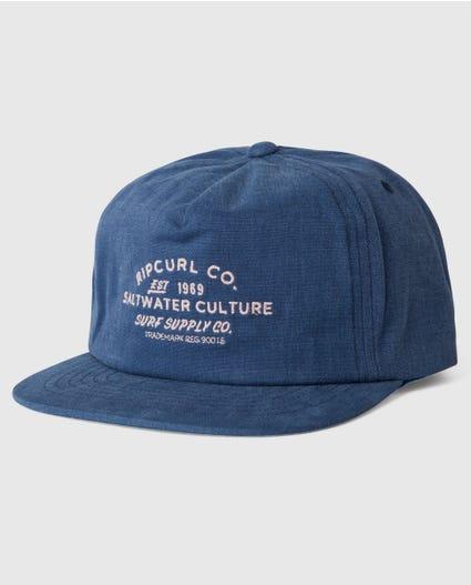 Supply Co Snapback Cap in Black
