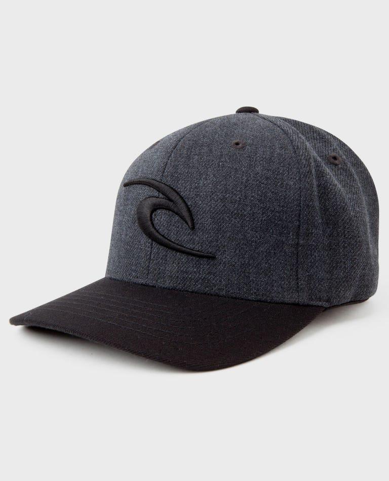 Fleck Curve Peak Cap in Dark Grey