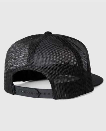 Corp Diamond Trucker Hat in Black