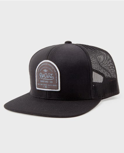 Customs Trucker Hat in Black