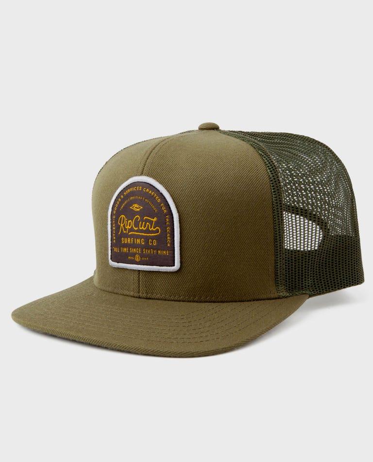 Customs Trucker Hat in Green