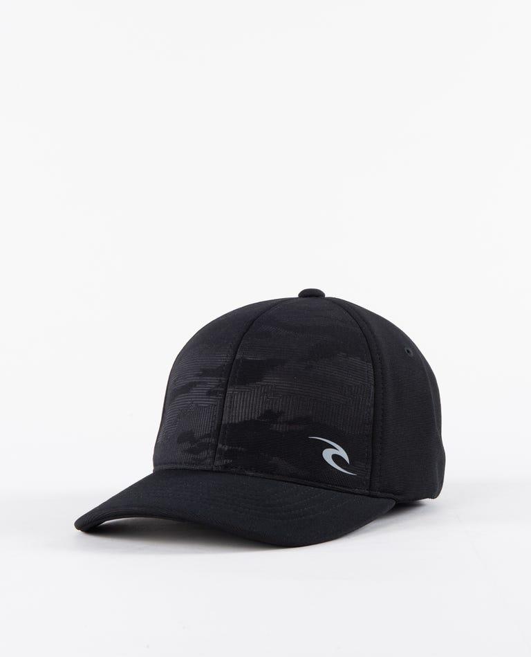 Camo Otto Flexfit Hat in Black
