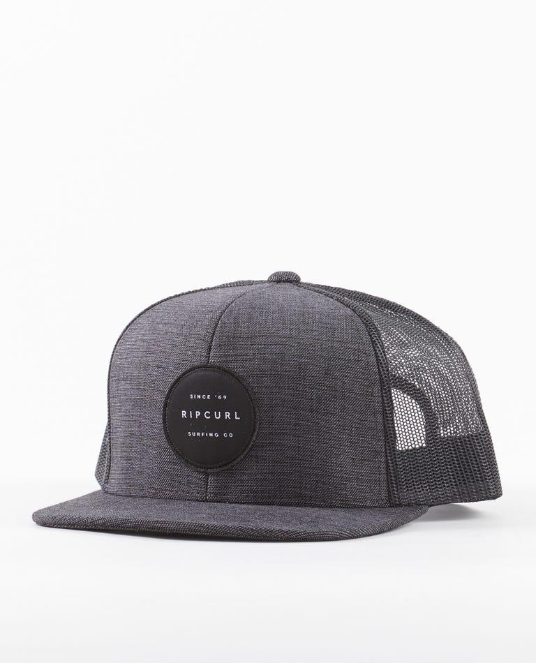 Routine Trucker Hat in Black